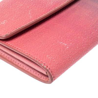 Fendi Pink Ombre Zucca Coated Canvas Continental Wallet 360359 - 8