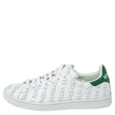 Vetements White Perforated Leather Low Top Sneakers Size 35 359300 - 1