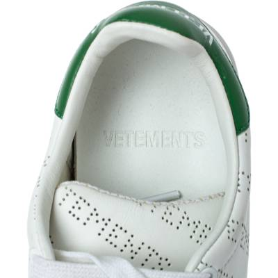 Vetements White Perforated Leather Low Top Sneakers Size 35 359300 - 6