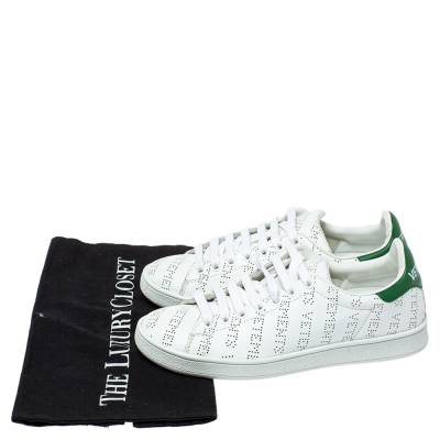 Vetements White Perforated Leather Low Top Sneakers Size 35 359300 - 7