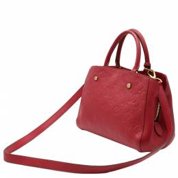 Louis Vuitton Red Monogram Empreinte Montaigne BB Bag 357470