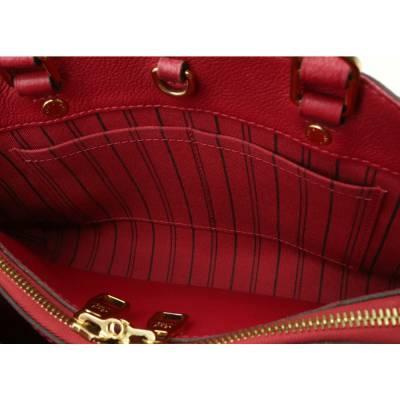 Louis Vuitton Red Monogram Empreinte Montaigne BB Bag 357470 - 2