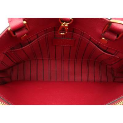 Louis Vuitton Red Monogram Empreinte Montaigne BB Bag 357470 - 4