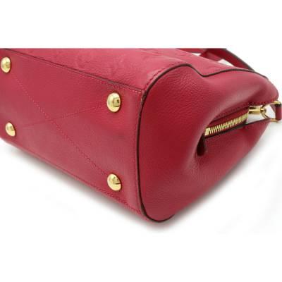 Louis Vuitton Red Monogram Empreinte Montaigne BB Bag 357470 - 8