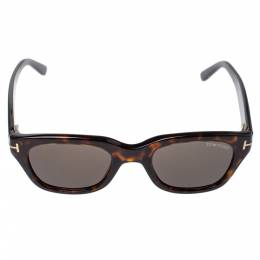 Tom Ford Brown Tortoise Snowdon Wayfarer Sunglasses 357007