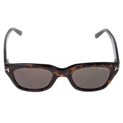 Tom Ford Brown Tortoise Snowdon Wayfarer Sunglasses 357007 - 1