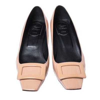 Roger Vivier Beige Patent Leather Belle Pumps Size 38.5 357862 - 2