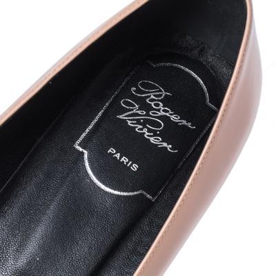 Roger Vivier Beige Patent Leather Belle Pumps Size 38.5 357862 - 6