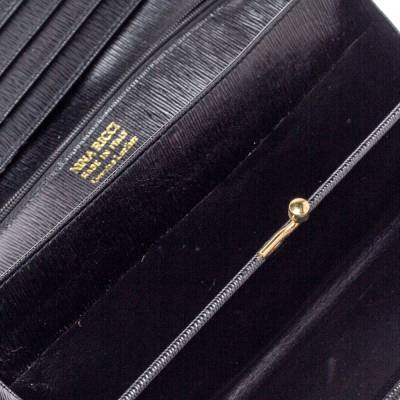 Nina Ricci Black Leather Flap Continental Wallet 360360 - 1