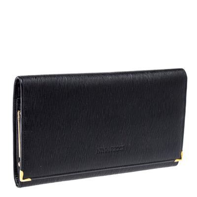 Nina Ricci Black Leather Flap Continental Wallet 360360 - 2
