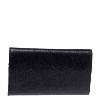 Nina Ricci Black Leather Flap Continental Wallet 360360 - 3