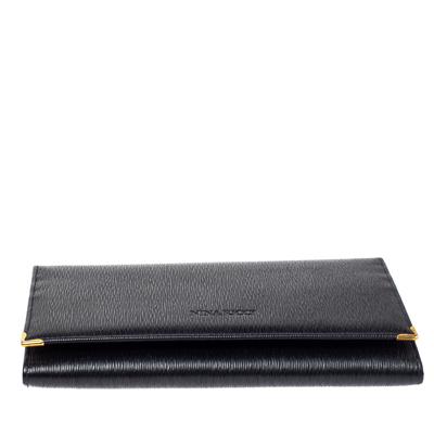 Nina Ricci Black Leather Flap Continental Wallet 360360 - 5