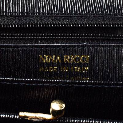 Nina Ricci Black Leather Flap Continental Wallet 360360 - 6