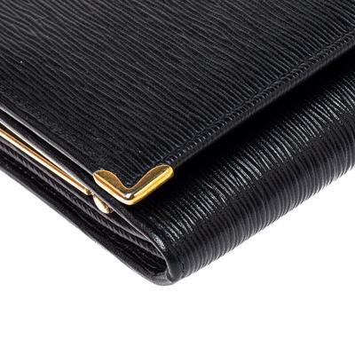 Nina Ricci Black Leather Flap Continental Wallet 360360 - 8