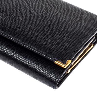 Nina Ricci Black Leather Flap Continental Wallet 360360 - 9