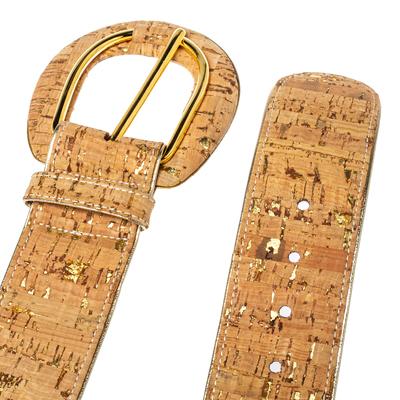 Oscar De La Renta Beige Cork and Leather Waist Belt 360364 - 3