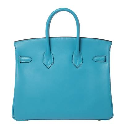 Hermes Ciel Swift Leather Gold Hardware Birkin 25 Bag 360367 - 3