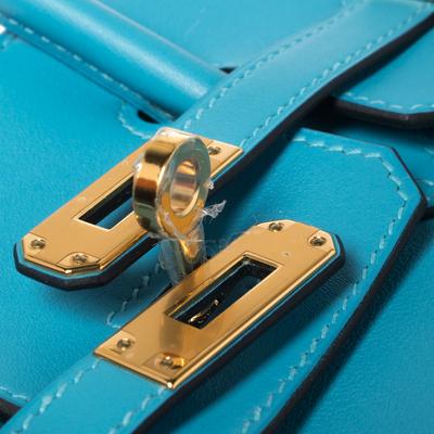 Hermes Ciel Swift Leather Gold Hardware Birkin 25 Bag 360367 - 6