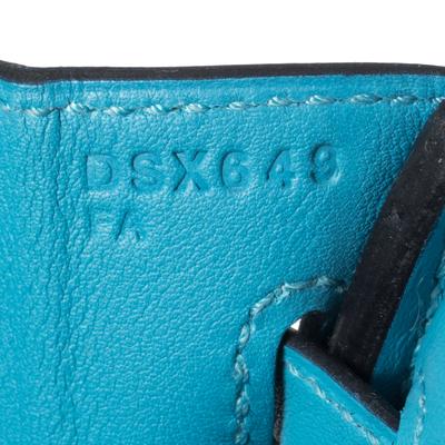Hermes Ciel Swift Leather Gold Hardware Birkin 25 Bag 360367 - 9