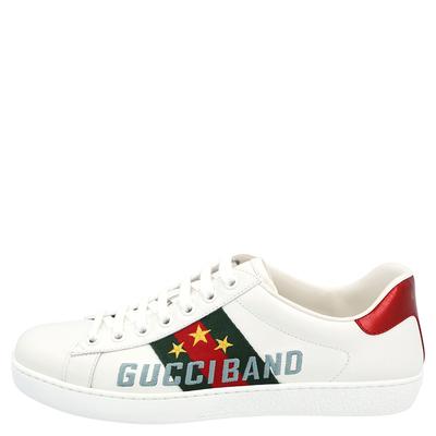 Gucci White Ace Gucci Band Sneakers Size UK 6 / EU 39 359624 - 1