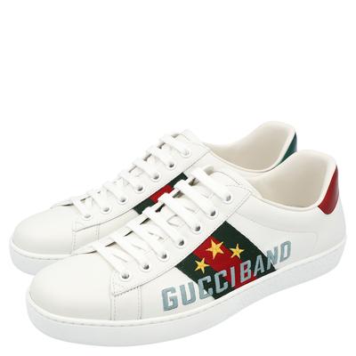 Gucci White Ace Gucci Band Sneakers Size UK 6 / EU 39 359624 - 3