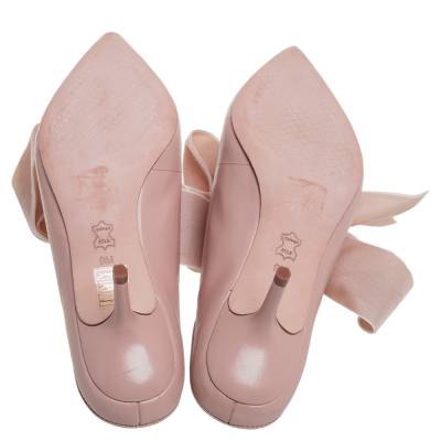 Tory Burch Nude Pink Leather Clara Mule Sandals Size 39 360308 - 5