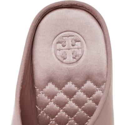 Tory Burch Nude Pink Leather Clara Mule Sandals Size 39 360308 - 6