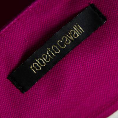 Roberto Cavalli Pink Denim Belted Flared Maxi Skirt M 360093 - 4