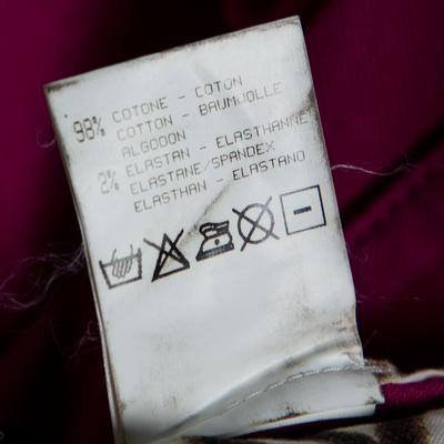 Roberto Cavalli Pink Denim Belted Flared Maxi Skirt M 360093 - 6