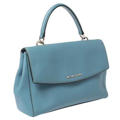 Michael Kors Blue Leather Medium Ava Top Handle Bag 360409 - 2