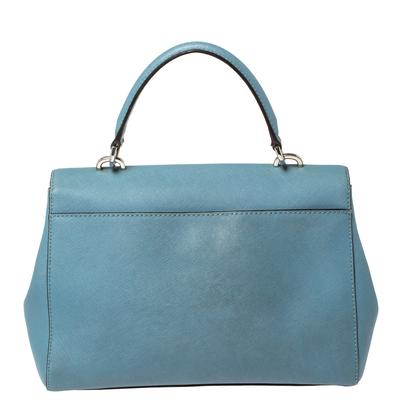 Michael Kors Blue Leather Medium Ava Top Handle Bag 360409 - 3