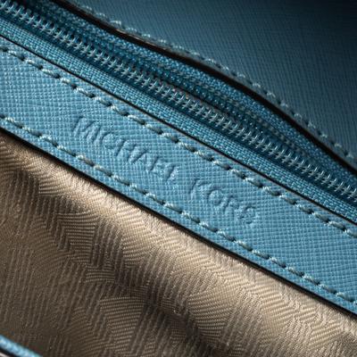 Michael Kors Blue Leather Medium Ava Top Handle Bag 360409 - 7