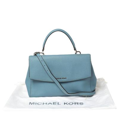 Michael Kors Blue Leather Medium Ava Top Handle Bag 360409 - 8