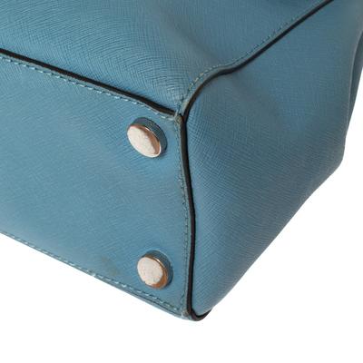 Michael Kors Blue Leather Medium Ava Top Handle Bag 360409 - 9