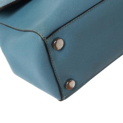 Michael Kors Blue Leather Medium Ava Top Handle Bag 360409 - 10