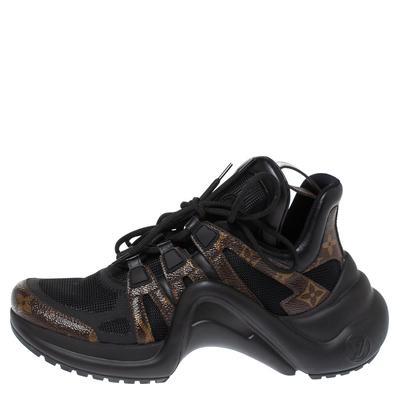 Louis Vuitton Black Monogram Canvas And Mesh LV Archlight Sneakers Size 38 360538 - 1