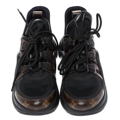 Louis Vuitton Black Monogram Canvas And Mesh LV Archlight Sneakers Size 38 360538 - 2