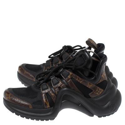 Louis Vuitton Black Monogram Canvas And Mesh LV Archlight Sneakers Size 38 360538 - 3