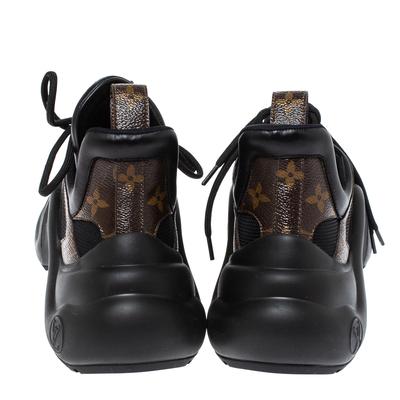 Louis Vuitton Black Monogram Canvas And Mesh LV Archlight Sneakers Size 38 360538 - 4