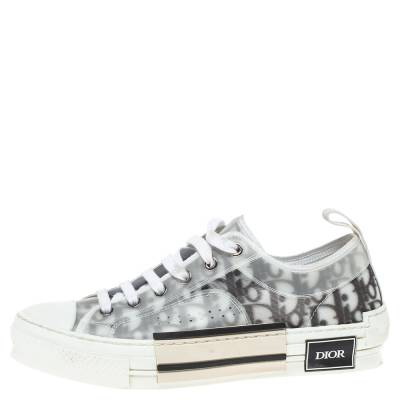 Dior White Oblique Mesh B23 Low Top Sneakers Size 38 360537 - 1