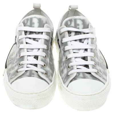 Dior White Oblique Mesh B23 Low Top Sneakers Size 38 360537 - 2