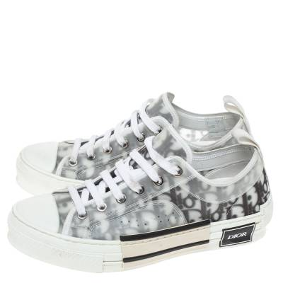 Dior White Oblique Mesh B23 Low Top Sneakers Size 38 360537 - 3