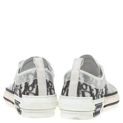 Dior White Oblique Mesh B23 Low Top Sneakers Size 38 360537 - 4