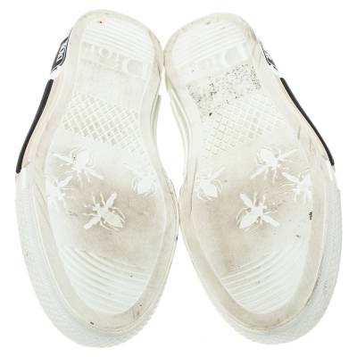 Dior White Oblique Mesh B23 Low Top Sneakers Size 38 360537 - 5