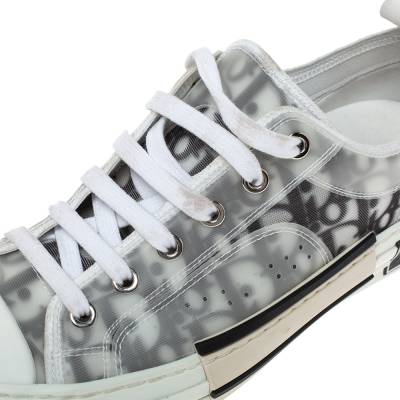 Dior White Oblique Mesh B23 Low Top Sneakers Size 38 360537 - 6