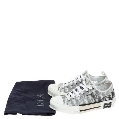 Dior White Oblique Mesh B23 Low Top Sneakers Size 38 360537 - 8
