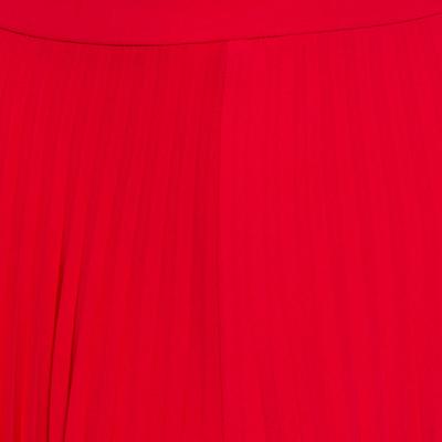 Ch Carolina Herrera Red Wide Leg Pleated Palazzo Pants S 359852 - 3