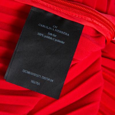 Ch Carolina Herrera Red Wide Leg Pleated Palazzo Pants S 359852 - 5