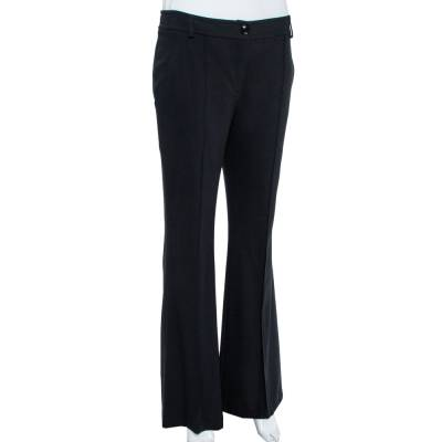 Christian Dior Boutique Black Crepe Flared Trousers M 359453 - 1