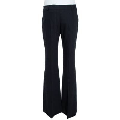 Christian Dior Boutique Black Crepe Flared Trousers M 359453 - 2